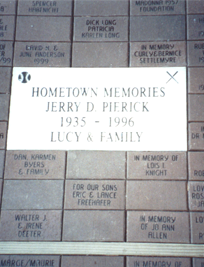Commemorative Bricks, Cass County Dentzel Carousel,  Logansport, Indiana, Riverside park