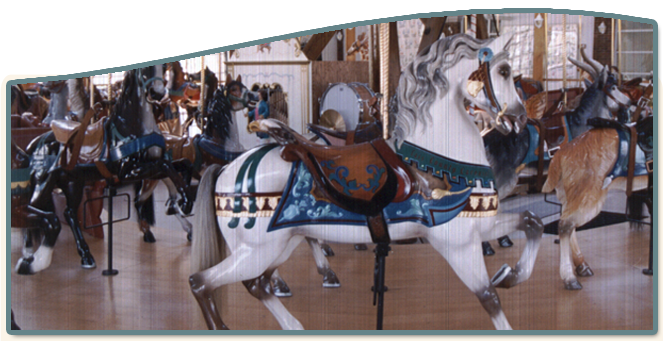 Cass County Dentzel Carousel,  Logansport, Indiana, Riverside park